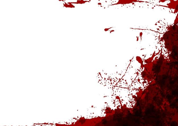 白い色のデザインの背景に抽象的なスプラッタ赤い色。イラストデザイン。