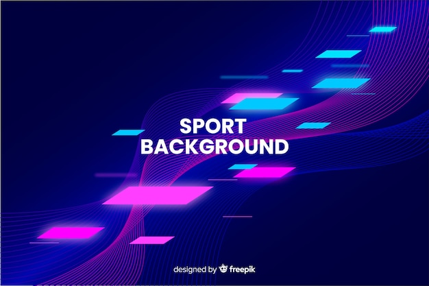 Abstract sport background flat design