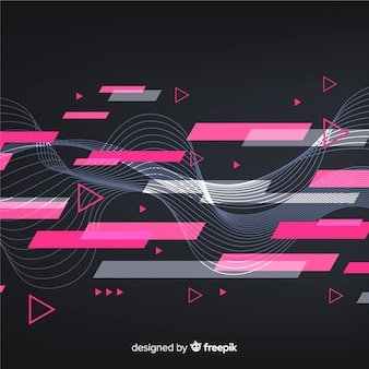 Abstract sport background flat style