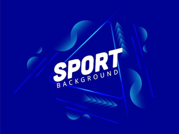 青い色の抽象的なスポーツの背景。