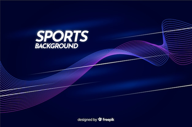Abstract sport background with blue waves
