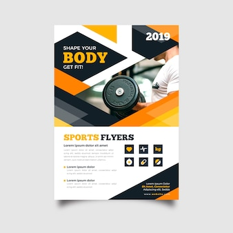 Abstract sport flyer template