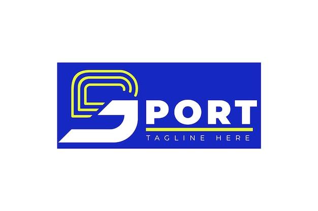 Шаблон логотипа абстрактный спорт