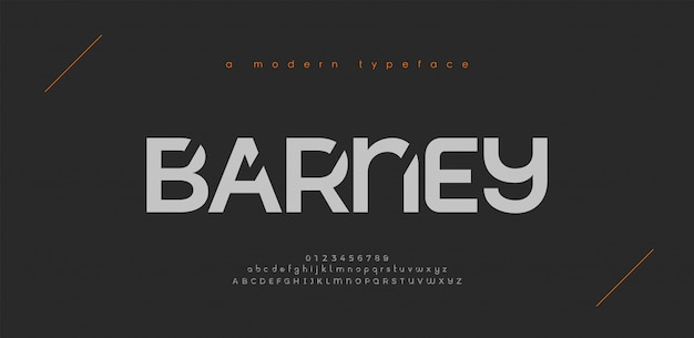 Abstract sport modern alphabet fonts. typography technology electronic sport digital game music future creative font