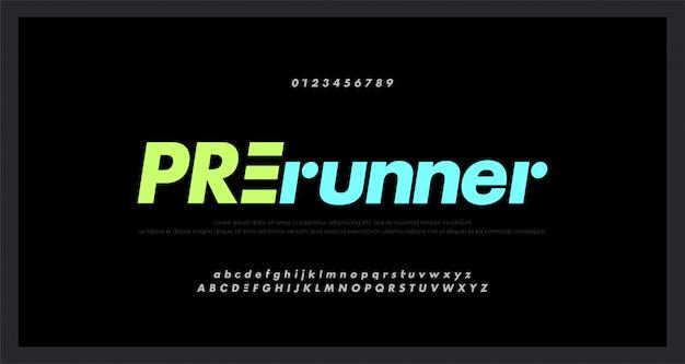 Abstract sport modern alphabet fonts