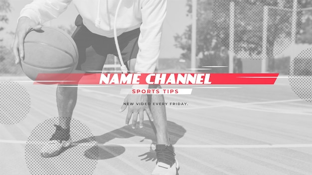 Abstract sport youtube channel art
