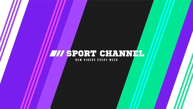 抽象スポーツyoutubeチャンネルアート