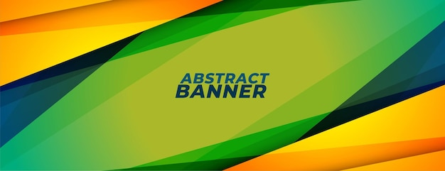 Abstract sports style banner with geometric shapes
