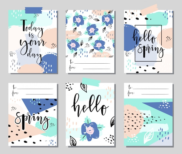 Abstract spring cards.