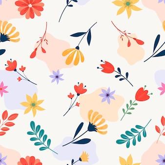 추상 봄 꽃 원활한 패턴