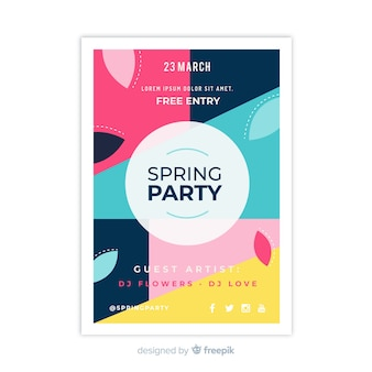 Abstract spring party flyer