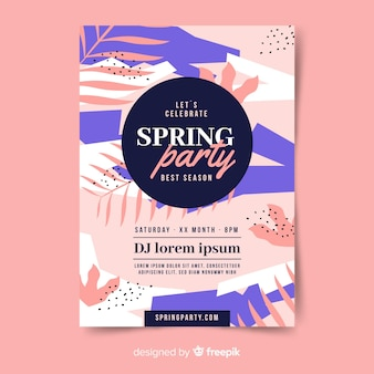 Abstract spring party poster