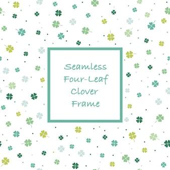 抽象的な春の正方形とフレームの図