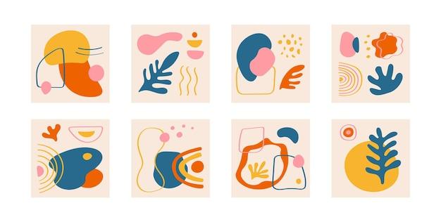 Абстрактные квадратные баннеры современные социальные сети пост фон