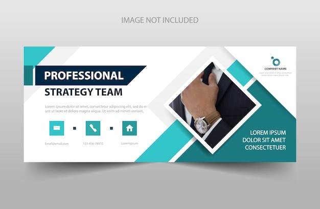 Abstract square corporate business banner template
