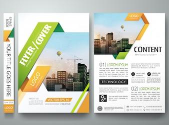 Abstract square in cover book portfolio design.