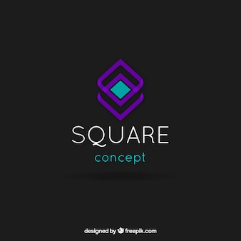 Abstract square logo template