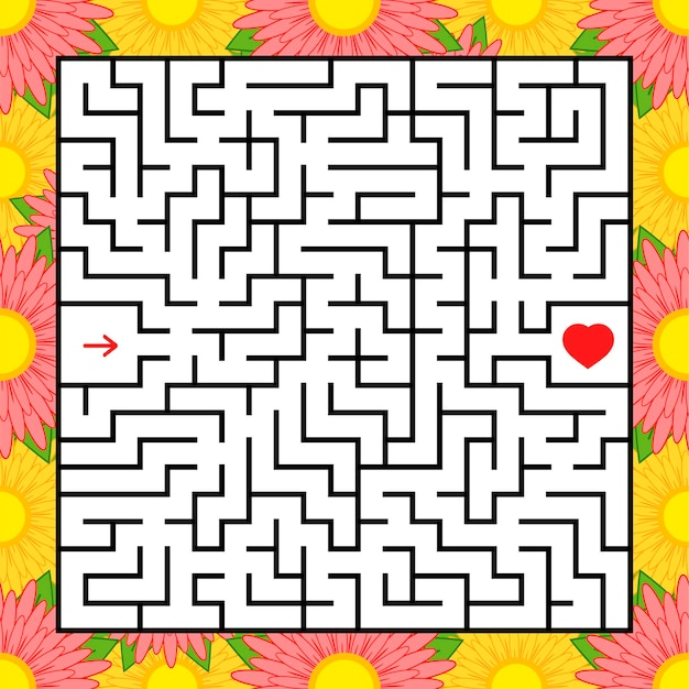 Abstract square maze.