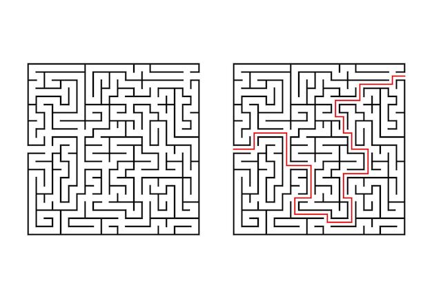 Абстрактный квадратный лабиринт.