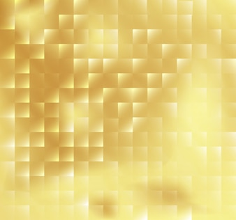 Abstract square mosaic tile yellow