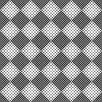 抽象的な正方形のパターンの背景-モノクロ
