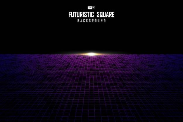 Абстрактный квадратный узор дизайн перспективы с вспышки света шаблон фона.
