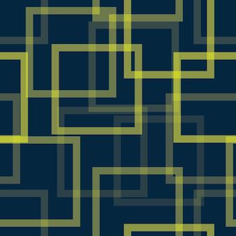 異なる透明度を持つ抽象的な正方形のシームレスパターン