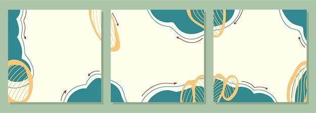 임의의 모양이 있는 추상 사각형 템플릿