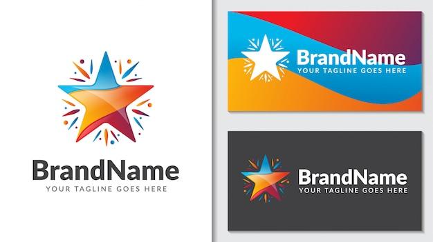 Абстрактная звезда награда концепция логотип icontemplate