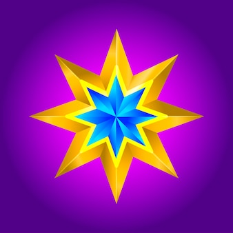 Abstract star background. overlying star shapes in blue new year christmas
