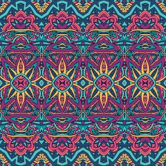生地の抽象的な星の民族パターン。
