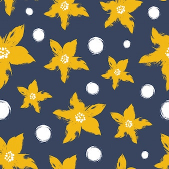 Abstract Star Flower Pattern