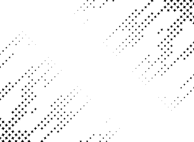 Abstract star halftone background frame