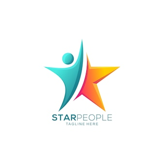 Abstract star people