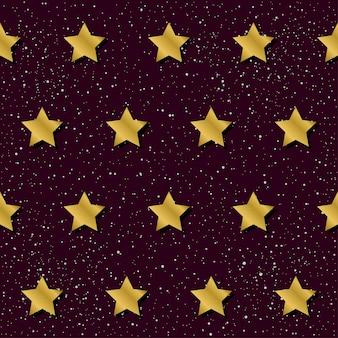Абстрактный бесшовный фон фон звезды. золотая градиентная звезда для дизайна карты, приглашения, футболки, книги, баннера, плаката, альбома для вырезок, альбома, текстильной ткани, одежды, печати на сумках и т. д.