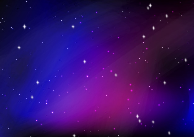 Abstract starry night sky background