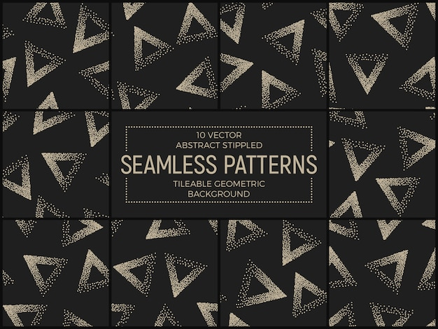 Abstract stippled seamless patterns