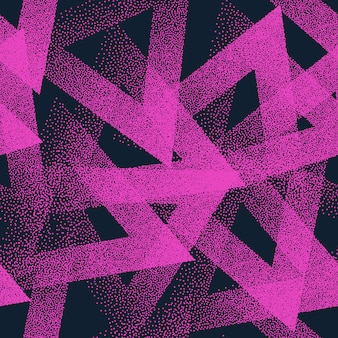 Abstract stippled triangles seamless pattern