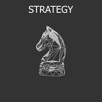 Abstract strategy chess concept