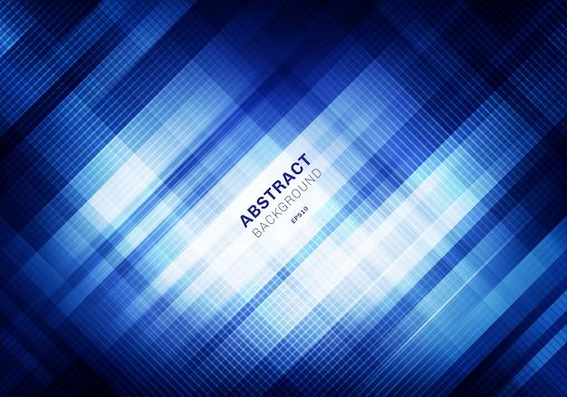 Abstract striped blue grid dark background