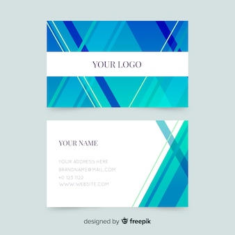 Abstract striped business card template