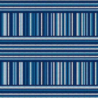 Abstract striped knitted pattern