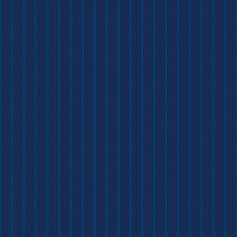 Abstract striped knitted sweater pattern vector seamless background with shades of blue colors wool