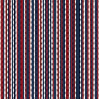 Абстрактный узор вязаный свитер в полоску