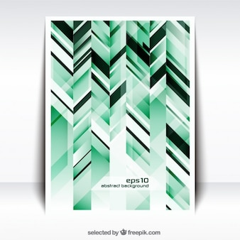 Abstract striped poster