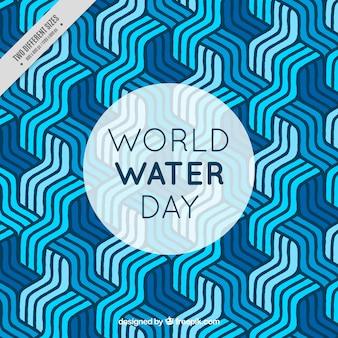 Astratto strisce sfondo di acqua al giorno