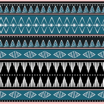 Abstract stripes geometric ethnic pattern
