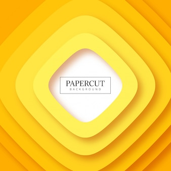 Abstract stripes yellow papercut background