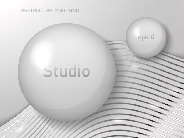 Abstract studio background of white color.