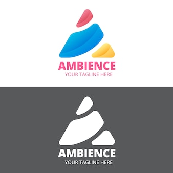 Abstract stye logo in two versions